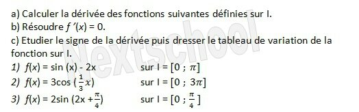 1ere derivation application aux variations 4 7
