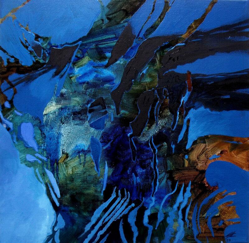 2013-Les heures du jour- NUIT, Huile- 40x40cm