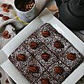 Moelleux au chocolat et poudre de cacahuètes