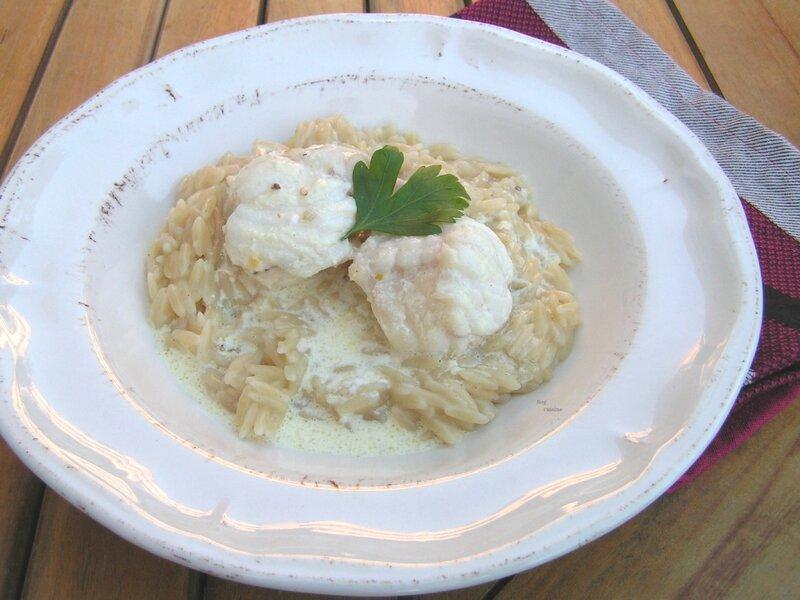risotto de rizetti et curry de queue de lotte au lait de coco (2)