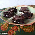 Brownies au sarrasin, amande et chocolat blanc