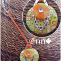 Collier FIMO orange anis argent n° 1 (N)