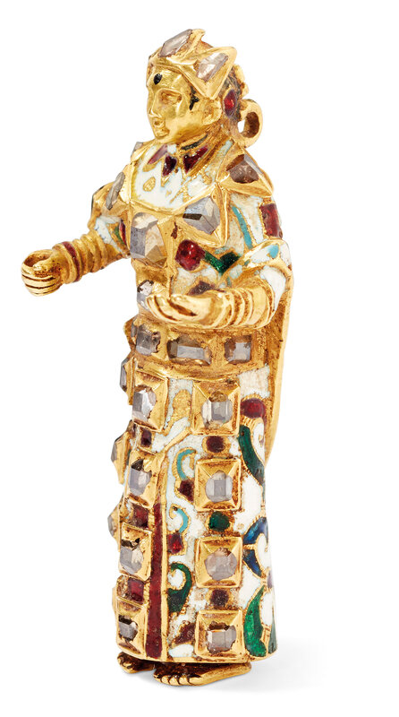 2019_CKS_17178_0099_003(an_enamelled_and_gem_set_gold_figure_of_a_female_saint_goa_or_north_in)