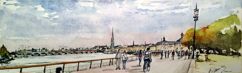 Bordeaux 2019 aquarelle 2