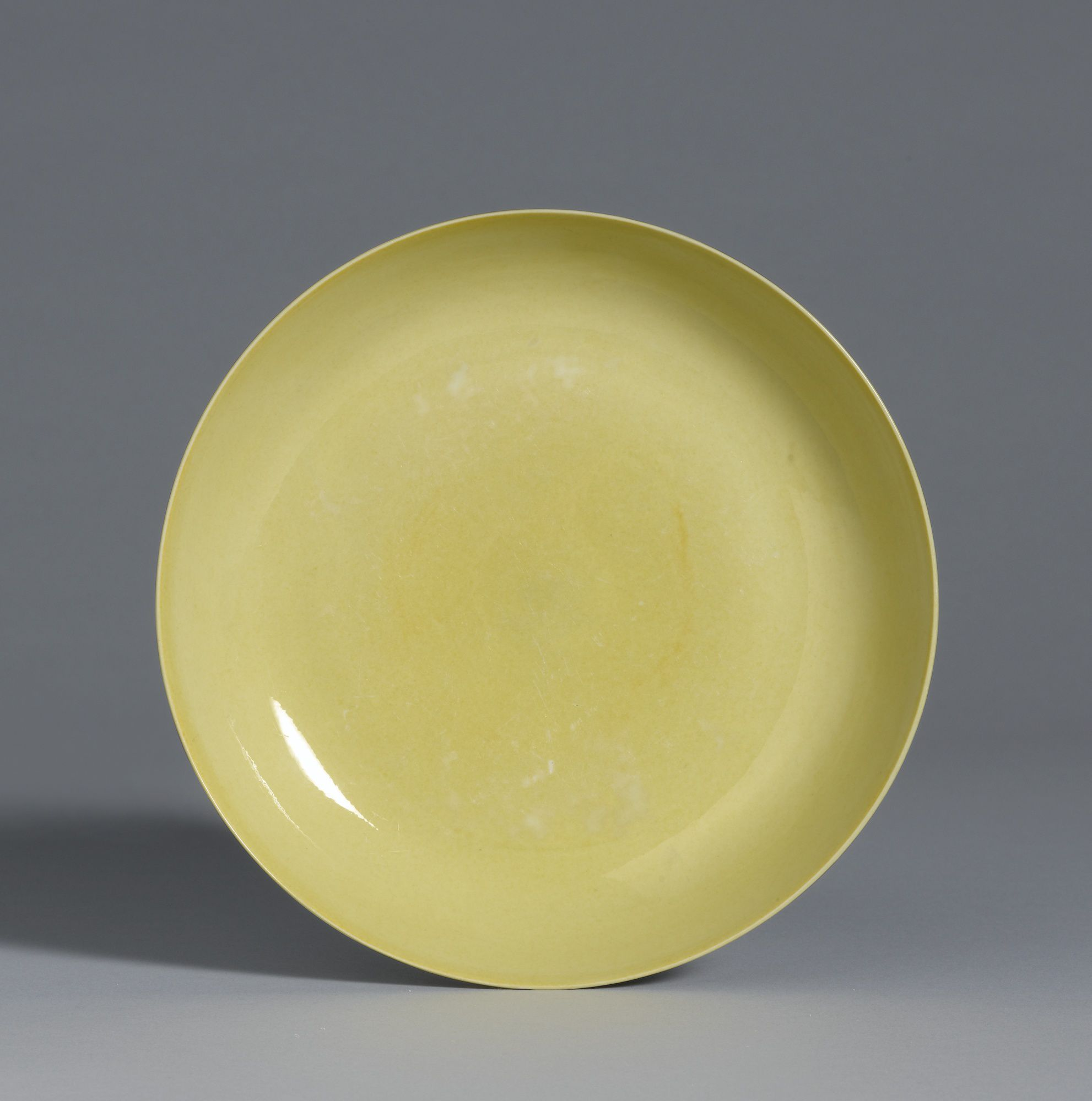 A Yellow-Glazed Dish, Mark and period of Hongzhi. Photo: Sotheby's.