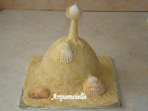 Un château de sable pour la Kermesse de l'école