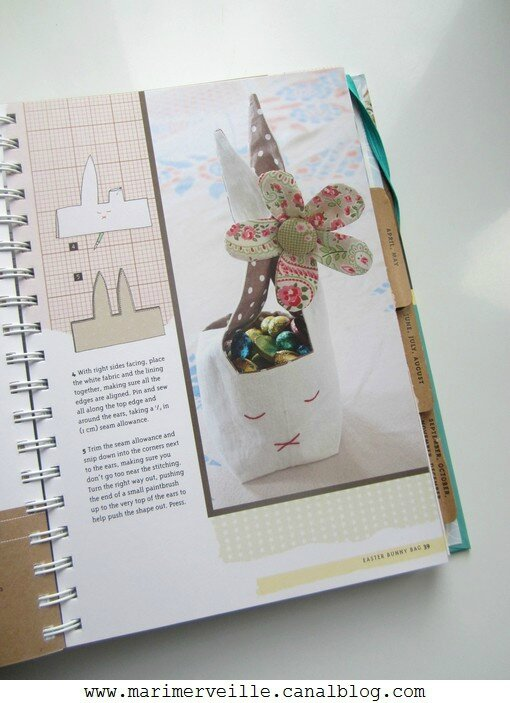 A year in crafts - corbeille lapin de pâques