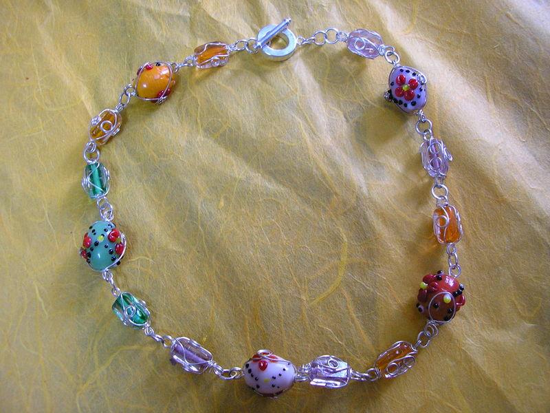 collier anneaux multi