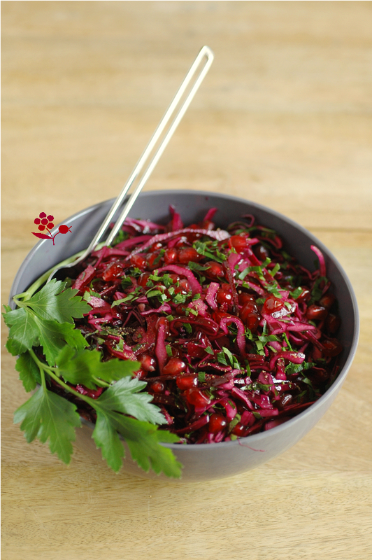 Salade chou rouge, oignon rouge, arilles de grenade_1