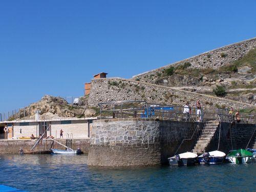 Donostia-ile Sta Clara débarcadère