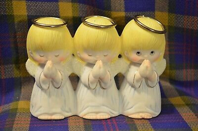 Adorable-3-Joined-Blonde-Angels-w-Gold-HalosGlitter-Wings