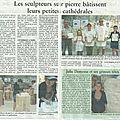 Article du journal oise hebdo sur les stages de sculpture sur pierre