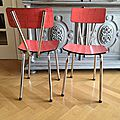 chaise formica rouge vintage