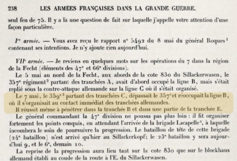 Sillackerwasen, AFGG, tome 3, légendé