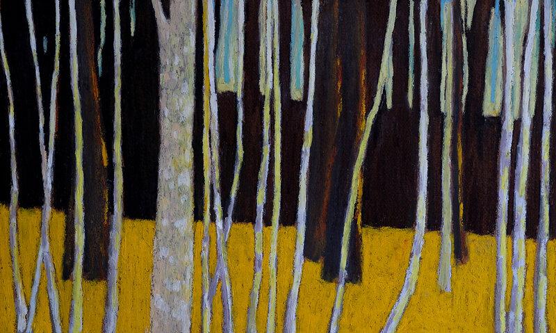 Les deux côtés d'une ombre, mars 2018, pastel à l'huile, 48 x 32 cm