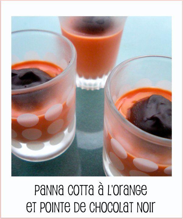 Panna cotta à l'orange et pointe de chocolat noir