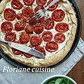 Tarte briochée à la tomate, ricotta et herbes