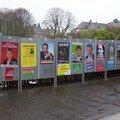 affichage élections présidentielles (sud-Manche)