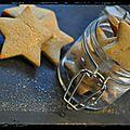 En préparant noël : etoiles à la cannelle