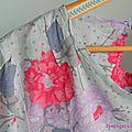 Top c dressing chic en voile de coton fleuri