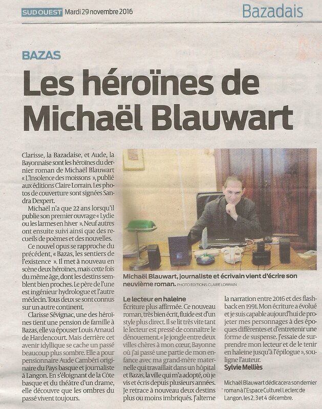 Les héroïnes de Michaël Blauwart