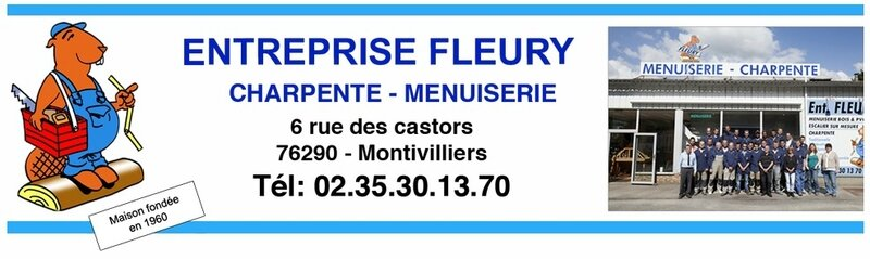 Logo Entête Menuiserie FLEURY
