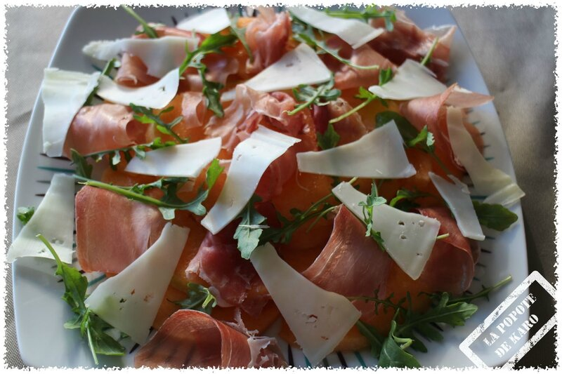 carpaccio au melon