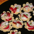 Croustades de crevettes sauvages et radis