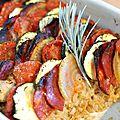 Tian de légumes au chorizo :