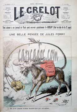 Jules Ferry caricaturé en âne