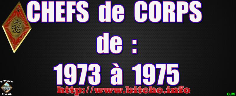 CHEFS de CORPS de 1973