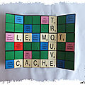Carte en pas à pas : carte à message secret façon scrabble