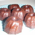 Cannelés cacao-cannelle