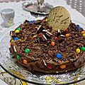 Gâteau mousse au chocolat pour anis et iza