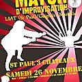 Match d'impro par la liat à st paul le 26 novembre 2011