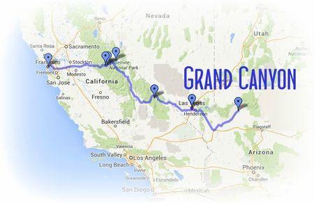 Road Trip USA-Ouest américain juillet 2013 - etape 6 GRAND CANYON chez Gloewen et Scrat