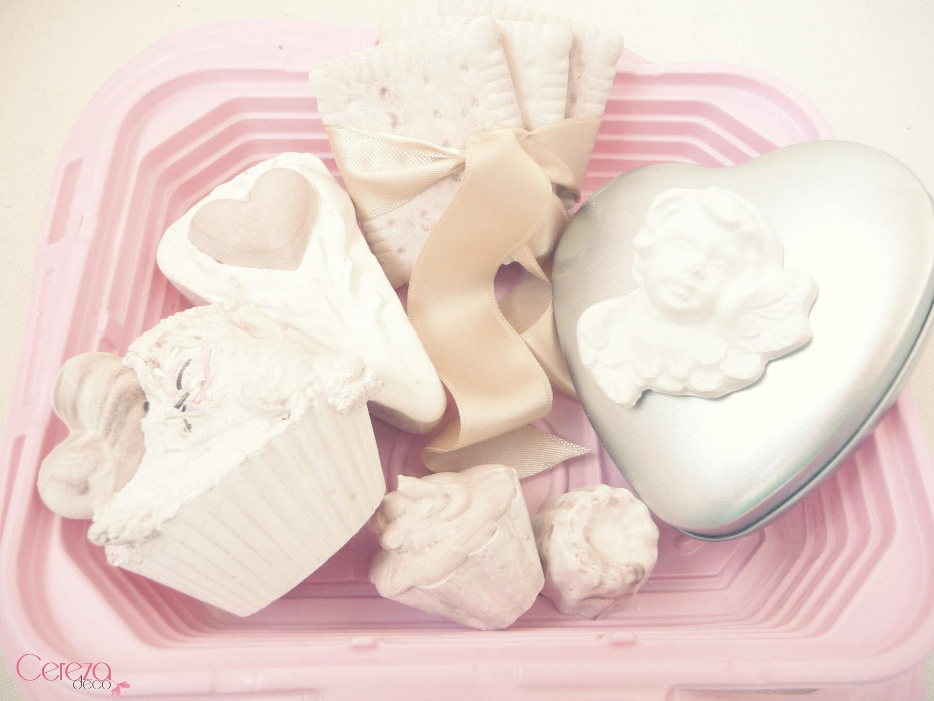 fausses pâtisseries cupcake parfum armoire cereza deco coffret fête mères