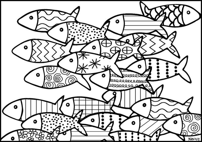 poissons CADRE GRAPHISME