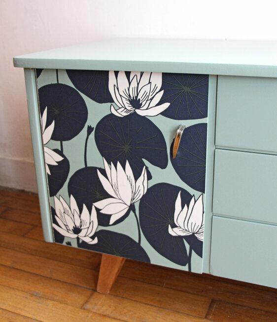 meuble-bas-vintage-lotus-porte