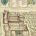 Abbaye saint junien de nouaillé, comparaison avec une vue de l'abbaye de 1699