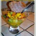 Meli-melo de fruits exotiques au miel