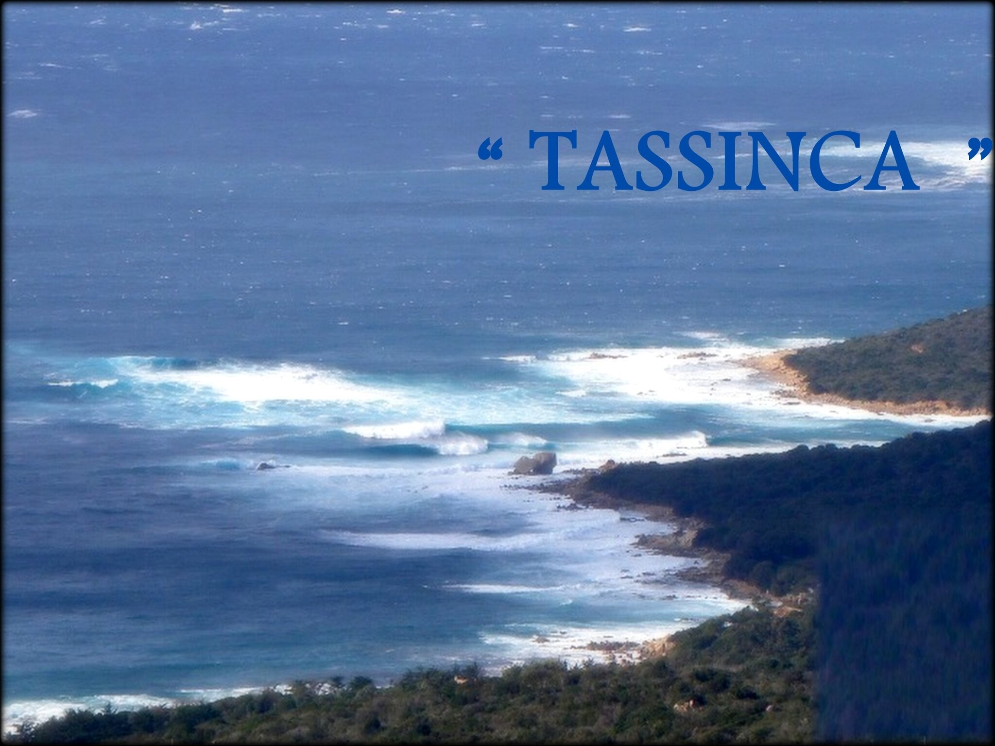 """ TASSINCA "" / SUITE DONNEES"