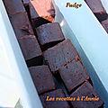 Fudge recette anglaise