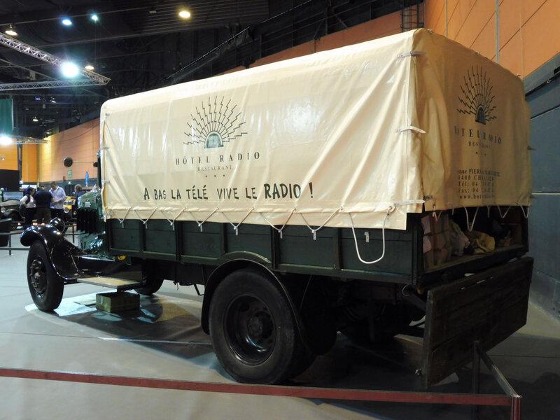 MATHIS type U2 camion plateau ridelles bois bâché 1932 Strasbourg (2)