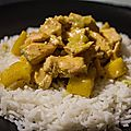 Curry de saumon à la mangue
