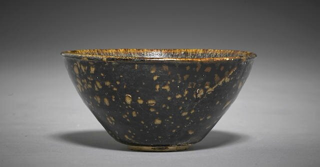 A Jizhou ware tea bowl, Southern Song dynasty