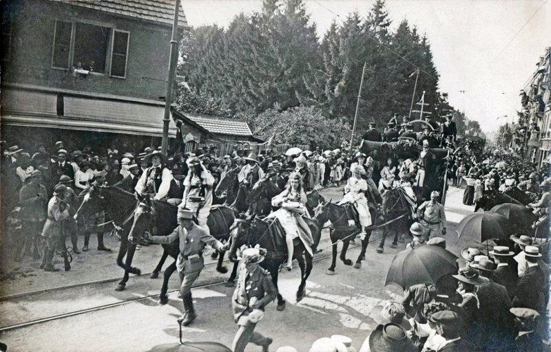 531FB 1919 08 15 Belfort CPA Fêtes patriotiques Char Lyre Belfortaine