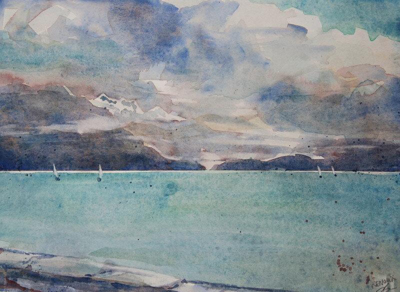 aquarelle-lac-annecy-nuages-vanessaRenoux-pf2019