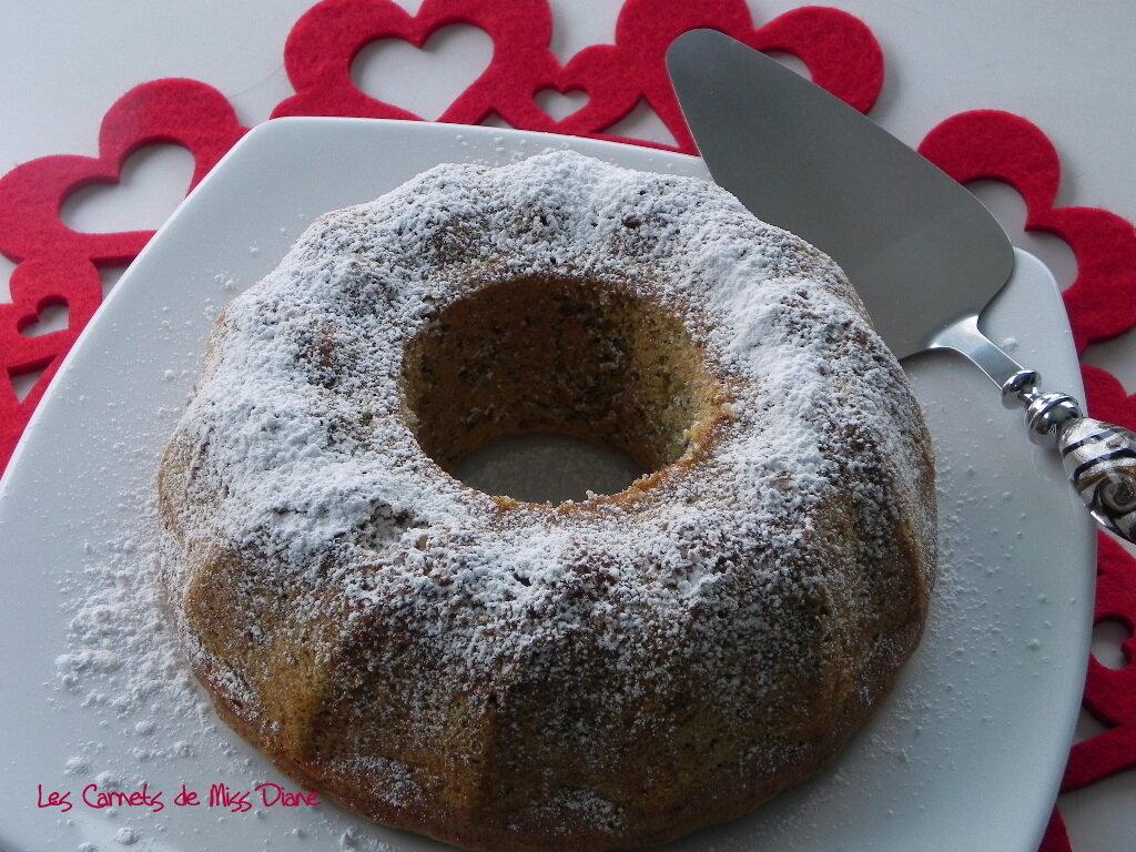 Gâteau ou génoise à la pistache, sans gluten, sans lactose et sans gras