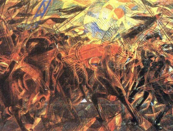 12 Carrà, Les funérailles de l'anarchiste Galli